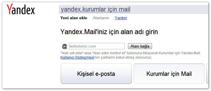 Photo of Yandex kurumlar için mail